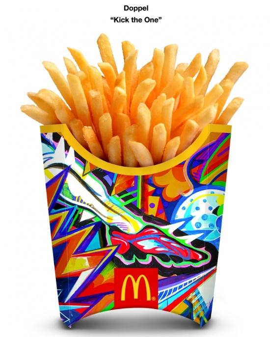 McDonald麦当劳2014巴西世界杯薯条包装设计图片